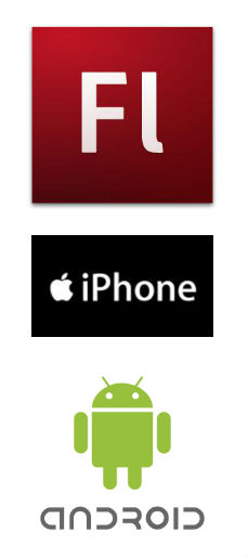 Adobe Flash iPhone Android