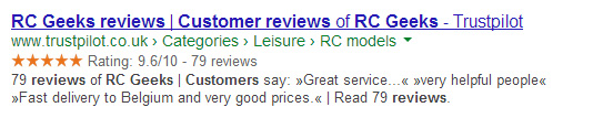 TrustPilot Search Results