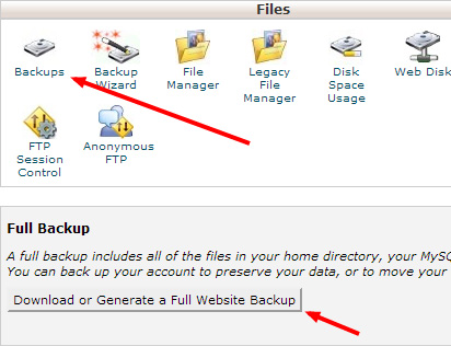 OpenCart Full Backup