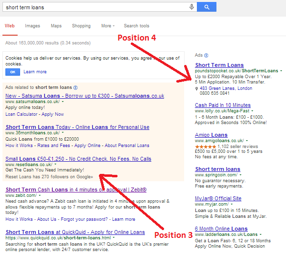 Google Search CTR Position 3 Position 4