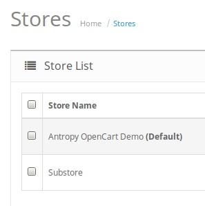 How do OpenCart Multi-Stores work?