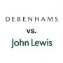 Why have Debenhams not done as well as John Lewis?