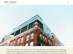 Boundary Restaurant, Rooms & Rooftop